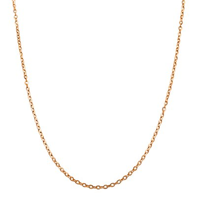 Pink Gold Flat Cable Link Chain