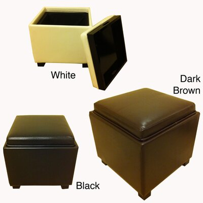 NOYA USA Classic Faux Leather Square Storage Ottoman