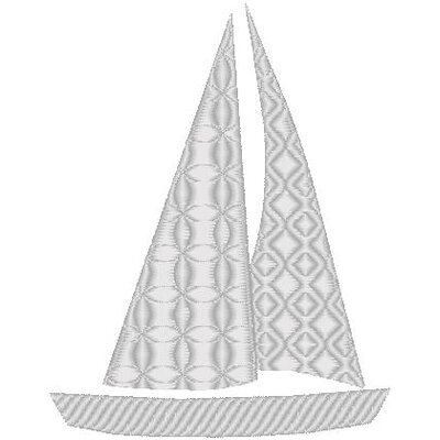 Nantucket Bound Sailboat Sunbrella Fabric Beach Pillow