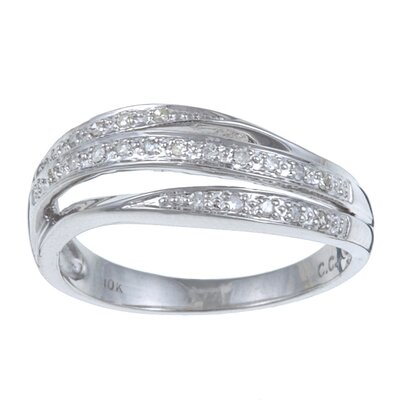 White Gold Split Pave Set Diamond Ring