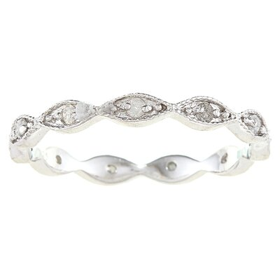 Sterling Silver Stackable Diamond Eternity Ring