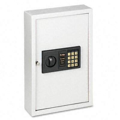 Buddy Products Locking Electronic Keypad 48-Key Steel Cabinet, 11-3/4w x 4d x 17-3/4h, Platinum                                             