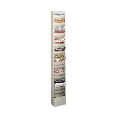 "Buddy Products Curved Pocket Rack, 23 Pockets, 9-3/4""x4-1/2""x36-3/8"", PM"