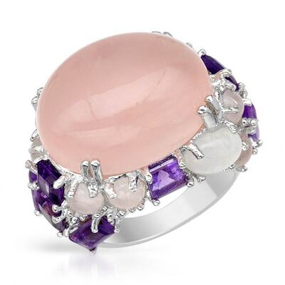 925 Sterling Silver Cabochon Cut Quartz Ring