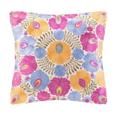 echo design Laila Cotton Faux Linen Decorative Pillow