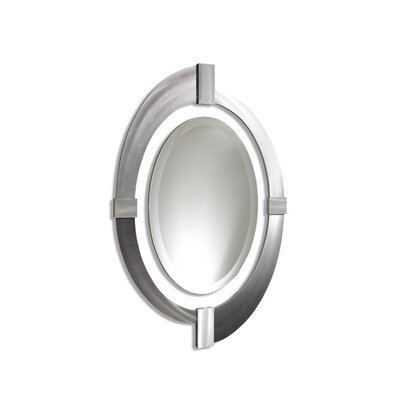 Jon Gilmore Intersections Oval Mirror in Silver