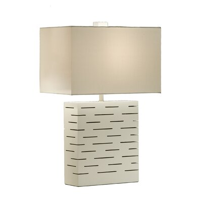Rift Reclining Table Lamp in Gloss White