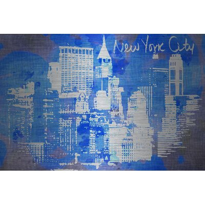 Jen Lee Art New York Skyline Aluminum Art
