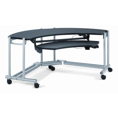 Anthro Anthro Ergonomic Desks Fit Console Wrap Around Studio Computer Workstation