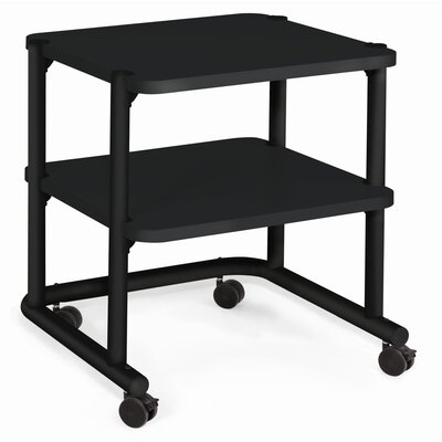 "Anthro 24"" Office Equipment Utility Cart in Black"