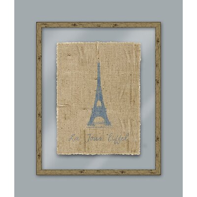 Epic Art Blue Eiffel Wall Art