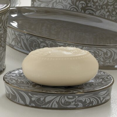 Trump Home Bedminister Scroll Soap Dish in Flint Grey