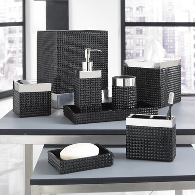 Trump Home Parc East Bricks Bath Accessory Collection in Black
