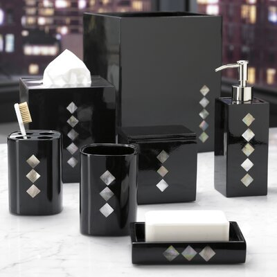 Vegas Bath Accessory Collection in Black