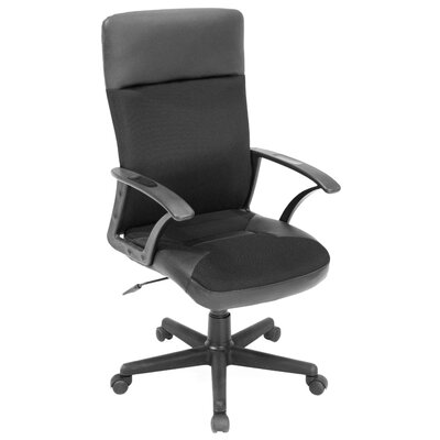 Regency Imperial High-Back Leather and Fabric Swivel Office Chair