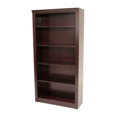 "Regency Prestige 72"" Traditional Veneer Bookcase in Mahogany"