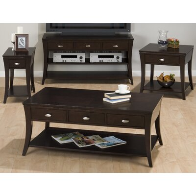Jofran Double Header Mobile Coffee Table Set