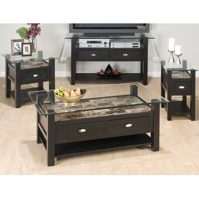 Jofran Glass Coffee Table Set