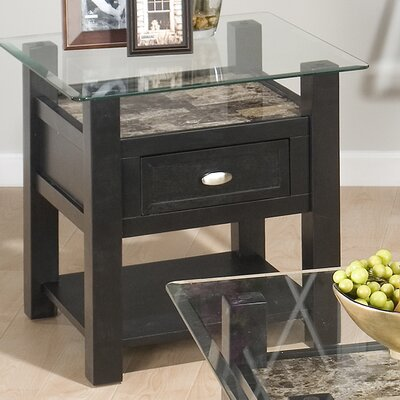 Jofran Beveled Edge Chairside Table