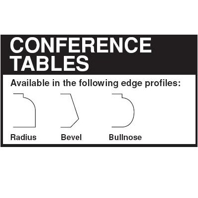 "Lesro Contemporary Series 96"" Boat Style Conference Table (Trestle Base)"