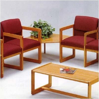 Lesro Classic Two Ergo Back Chairs with Corner Table