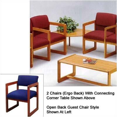 Lesro Classic Two Chairs with Open Back