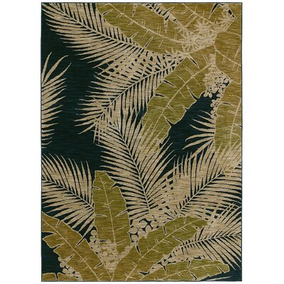 Home Nylon Navy Carnival Palms Rug