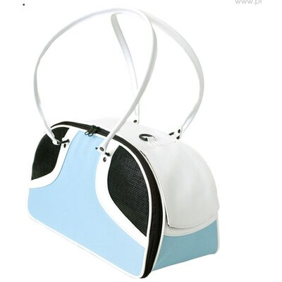 Petote Roxy Pet Carrier in Turquoise and White