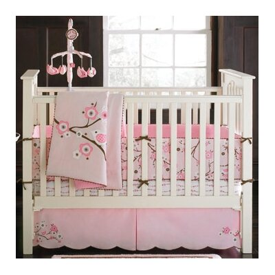 MiGi Pink Blossom 4 Piece Crib Bedding Set