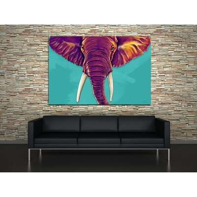 Maxwell Dickson Elephant in The Room Canvas Print