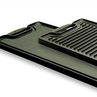 "Emerilware by All Clad Cast Iron 20"" Reversible Grill and Griddle"