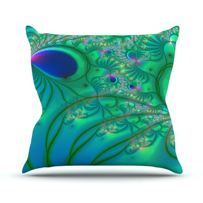 KESS InHouse Fractal Throw Pillow