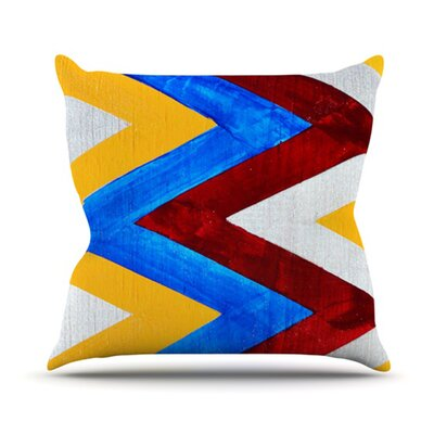 KESS InHouse Zig Zag Throw Pillow