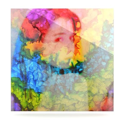 KESS InHouse Rainbow Splatter Floating Art Panel