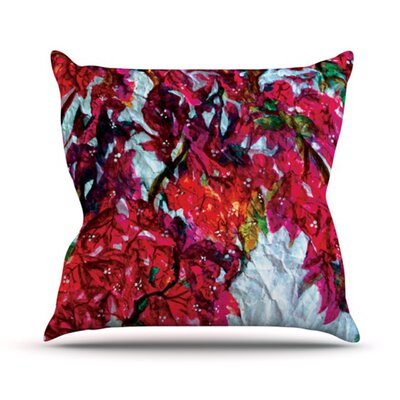 KESS InHouse Bougainvillea Throw Pillow