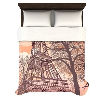 KESS InHouse Eiffel Tower Fleece Duvet Cover Collection