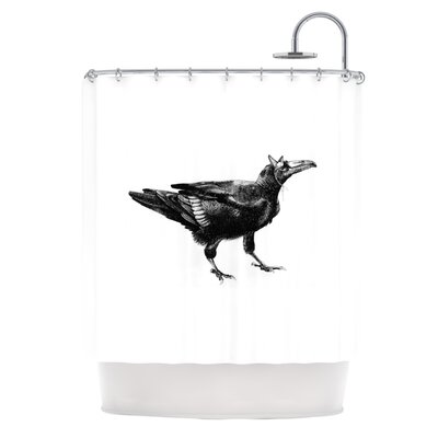 KESS InHouse Raven Polyester Shower Curtain