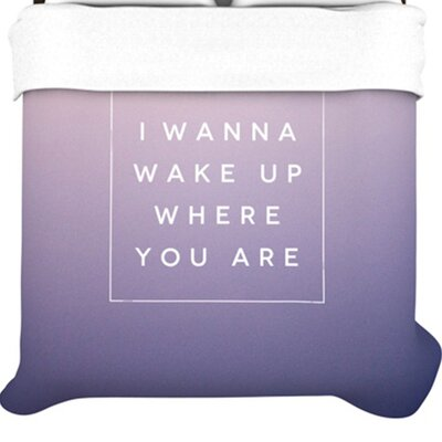 KESS InHouse Wake Up Duvet Collection