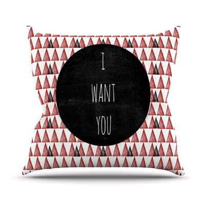 KESS InHouse I Want You Throw Pillow