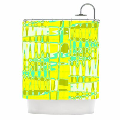 KESS InHouse Changing Gears in Sunshine Polyester Shower Curtain