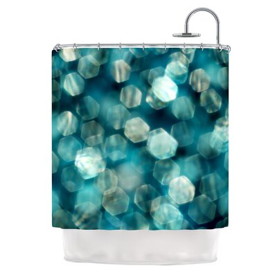 KESS InHouse Shades of Blue Polyester Shower Curtain