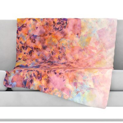 Blushed Geometric Fleece Throw Blanket