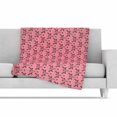 KESS InHouse Hummingbird Fleece Throw Blanket