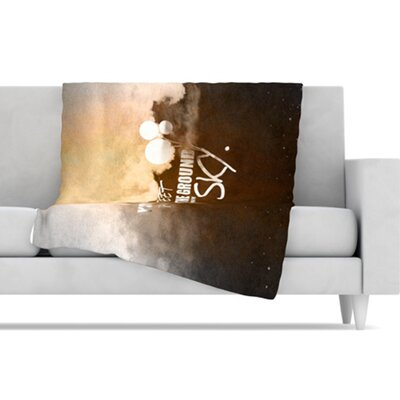 KESS InHouse Touch The Sky Fleece Throw Blanket