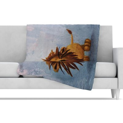 KESS InHouse Dandy Lion Fleece Throw Blanket