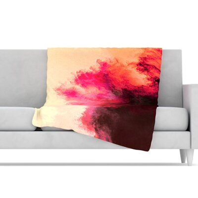 KESS InHouse Painted Clouds II Microfiber Fleece Throw Blanket
