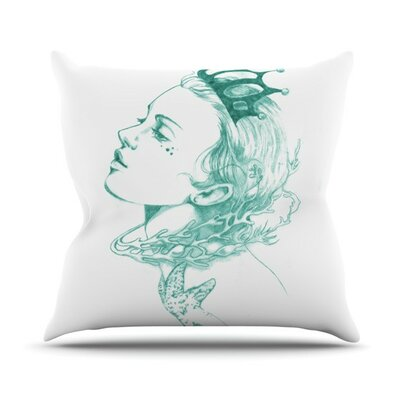 KESS InHouse Queen of The Sea Throw Pillow