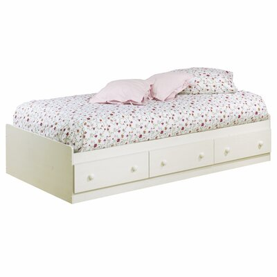 South Shore Summer Breeze White Wash Mates Bed Box