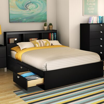South Shore Spark Mate's Platform Bed with Bookcase Headboard