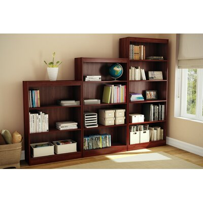 South Shore Axess Five Shelf Bookcase in Royal Cherry